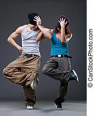 Una pareja de baile de pasión.