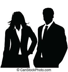 Una pareja de negocios