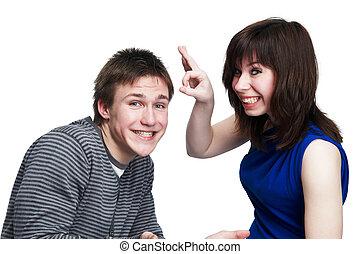 Una pareja divertida