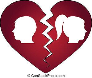 Una pareja divorciándose