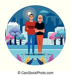 Una pareja en la ciudad