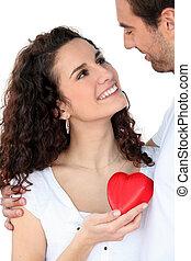Una pareja enamorada
