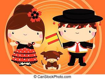 Una pareja española