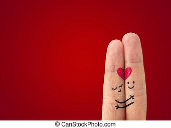 ? Una pareja feliz enamorada