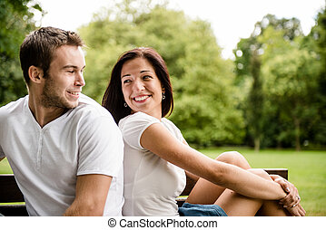 Una pareja joven y hermosa