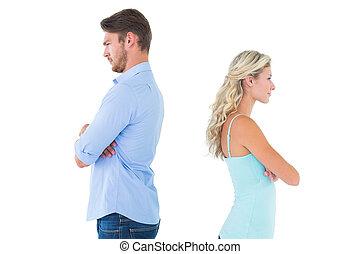 Una pareja que no se habla