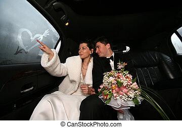 Una pareja recién casada