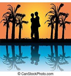 Una pareja romántica
