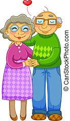 Una pareja vieja
