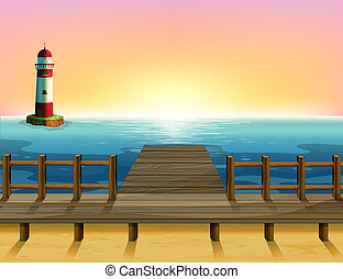 Una parola alta y el puente de madera