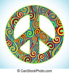 Una paz colorida