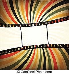 Una película pornográfica. Vector, EPS10