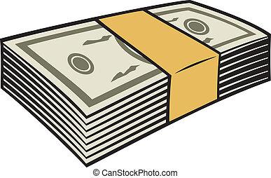 Una pila de dinero