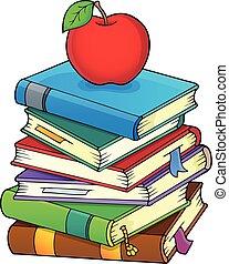 Una pila de libros, imagen temática 2