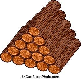 Una pila de troncos de madera ilustrando vectores