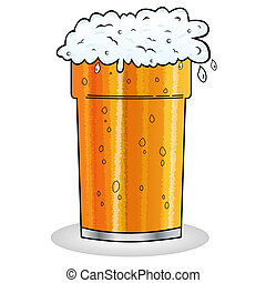 Una pinta de caricatura de cerveza