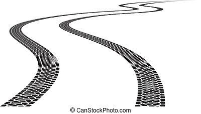 Una pista de neumáticos