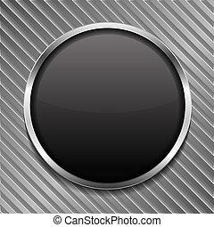 Una pizarra negra redonda