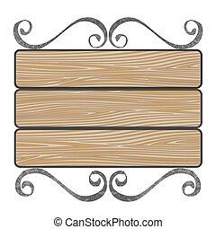 Una placa con tablones de madera