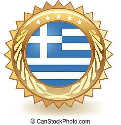 Una placa de Grecia