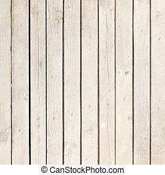 Una placa de madera blanca
