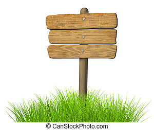 Una placa de madera