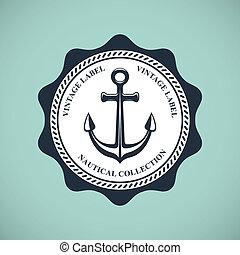 Una placa náutica antigua