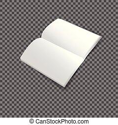 Una plantilla blanca mitad de folleto.