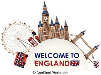 Una plantilla de atracción turística londona