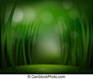 Una plantilla de bosque verde