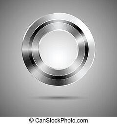 Una plantilla de botón con agujero en el centro