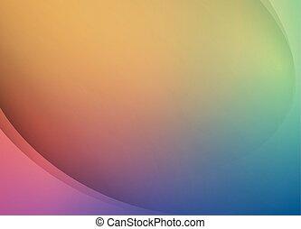 Una plantilla de diseño suave y colorido