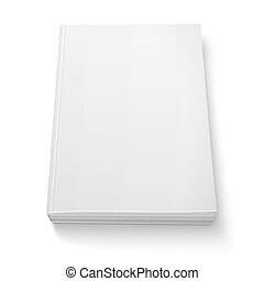 Una plantilla de libro en blanco.