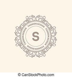 Una plantilla de logo de lujo Monogram