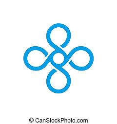 Una plantilla de logo de monograma antiguo. Vector