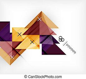 Una plantilla geométrica para folletos