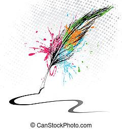 Una pluma abstracta