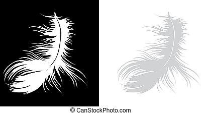 Una pluma sola
