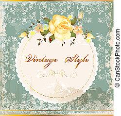 Una postal de colección con rosas