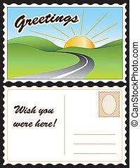 Una postal de viaje