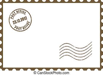 Una postal en blanco