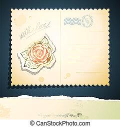 Una postal, vector