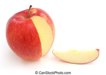 Una rebanada de manzana
