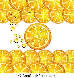 Una rebanada de naranja