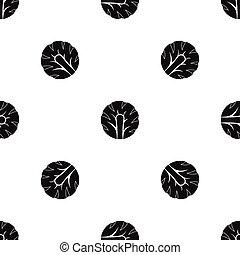 Una rebanada fresca de brocoli negro sin costura