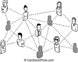 Una red social que conecta relaciones con la gente