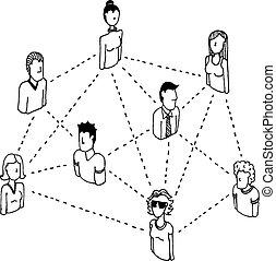 Una red social que conecta relaciones públicas 2