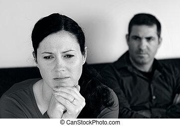 Una relación de pareja, una foto del concepto