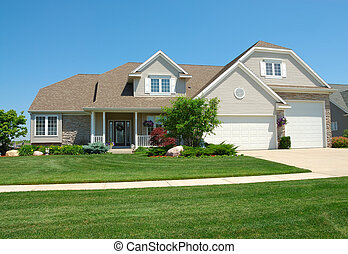 Una residencia residencia americana