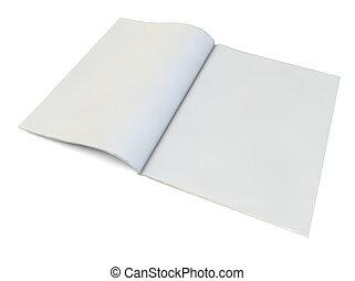Una revista en blanco
